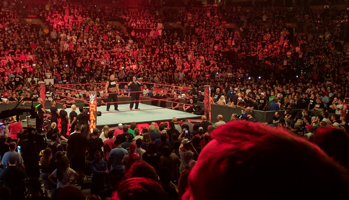 These guys, @HeymanHustle &amp; @BrockLesnar for #president and #VP for #2020  #WWERaw #RAW #WWE #RAWboston<br>http://pic.twitter.com/sBsOHGaZ2Z