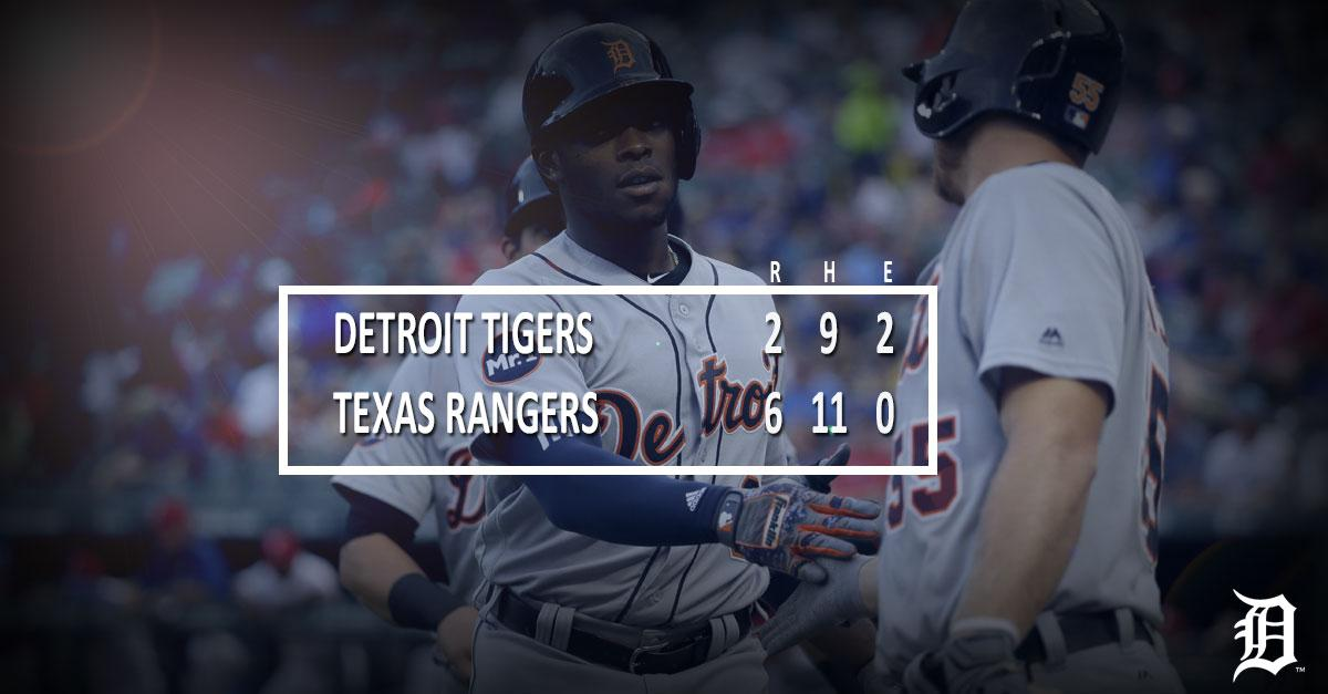Justin Upton homers, but #Tigers drop Game 1 of series vs. Rangers.  R...