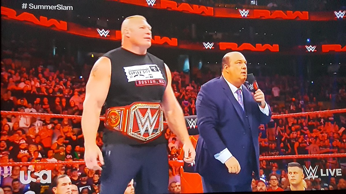 I love Paul Heyman @HeymanHustle on the mic. &quot;You might as well lock this beast up in a cage. HINT HINT&quot; #RAW <br>http://pic.twitter.com/YKTHbnZYMr