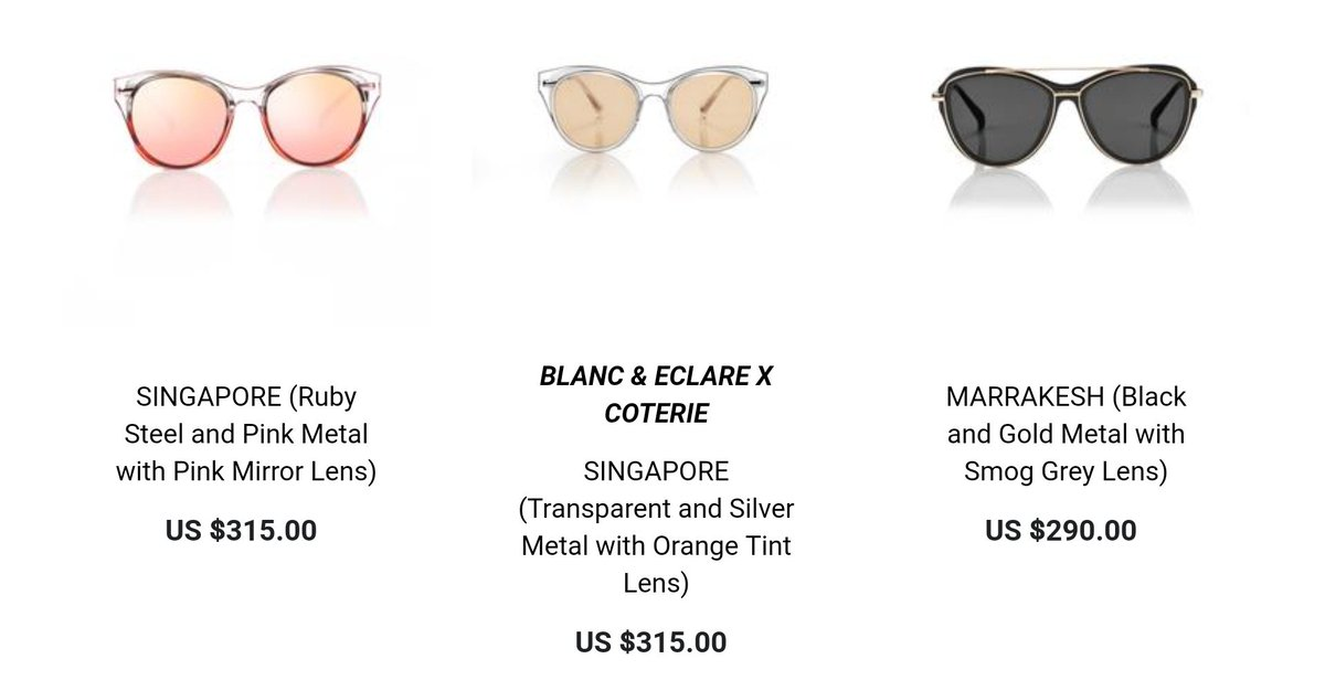 18ea07db843 The NEW sunglasses from 2018 BLANC   ECLARE collection is here!  https   blancgroup.c...tions frontpage. Spoiler. DHPbLQtXoAA60QI.jpg  DHPbMwyXYAErbkB.jpg