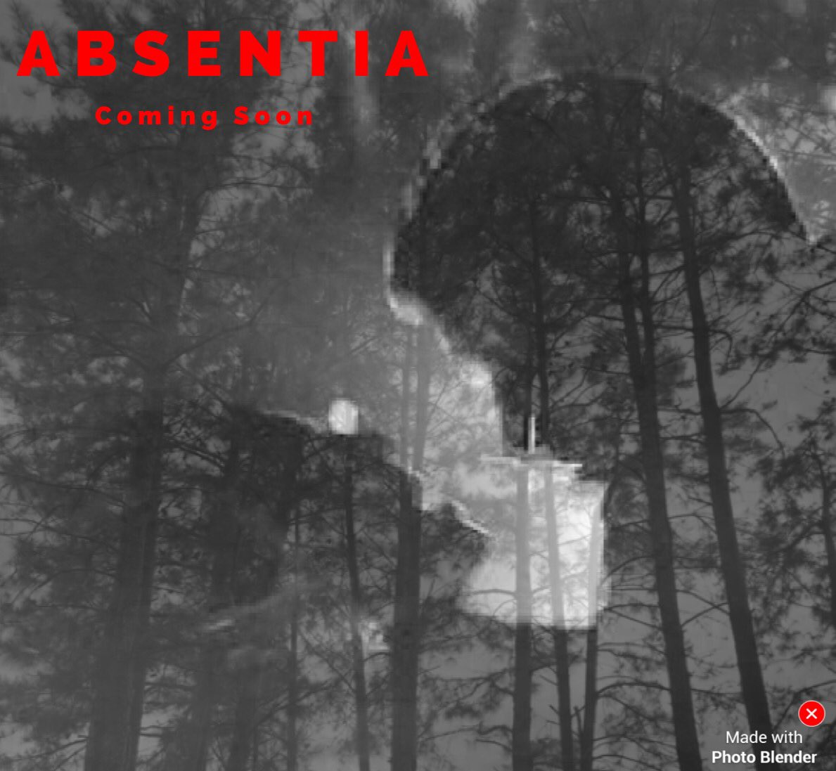 @AbsentiaSeries My 1st fanart! Took me awhile 2 talk myself into sharing.A pic from my backyard blended with an #Absentia pic #StillLearning<br>http://pic.twitter.com/wqCyeoYB5R