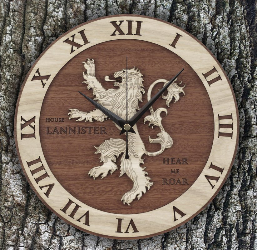 Handmade #Lannister wooden clock #GameOfThrones  #GoT #Decor #Geek #GiftsIdeas #WinterIsHere   -  https://www. etsy.com/listing/269531 391/lannister-wood-clock-game-of-thrones?ref=listing-shop-header-0 &nbsp; … <br>http://pic.twitter.com/NelmdOoNfZ
