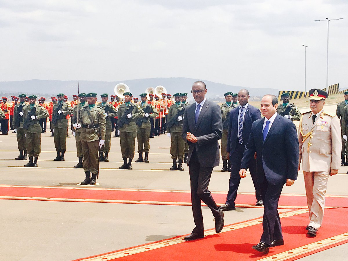 President Abdul Fatah al-Sisi of #Egypt is in #Rwanda for a one day visit<br>http://pic.twitter.com/dQtPDCVCDt