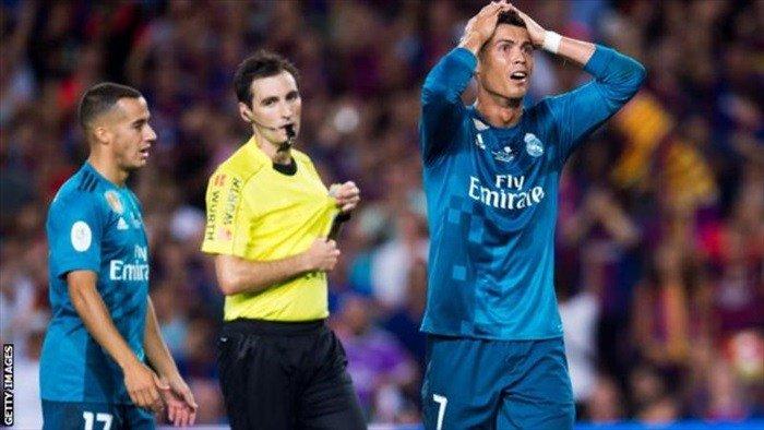 Ronaldo bags five-match ban ##Barcelona ##Realmadrid ##SupercopadeEspana #Ronaldo #Umtiti…  http://www. enisports.com/ronaldo-bags-f ive-match-ban/ &nbsp; … <br>http://pic.twitter.com/oT4ZCyGb6n