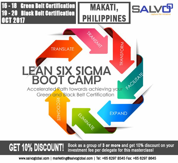 Salvoglobal On Twitter Join Salvos Lean Six Sigma Boot Camp In