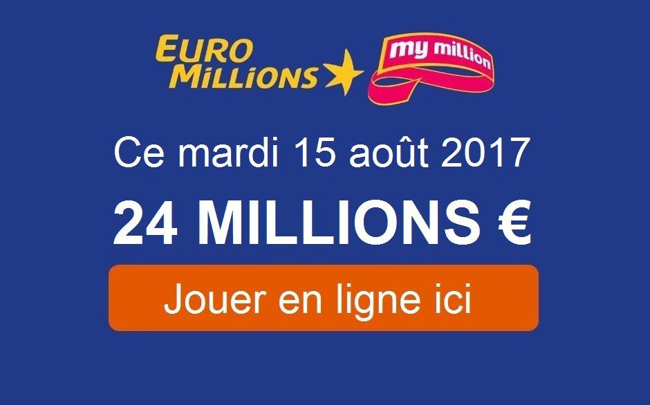 #Euromillions : le jackpot en cours de 24.000.000€ sera-t-il remporté ?  Retrouvez le résultat à partir de 21h30 !  https:// tirage-gagnant.com/33783/euromill ions-mardi-15-aout-2017/  … pic.twitter.com/11yHRnQhki