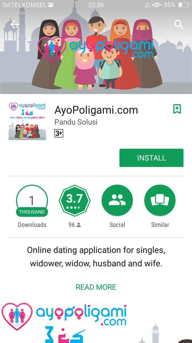 Tinder for polygamous folks in Indonesia. https://t.co/Si6bctrxhZ