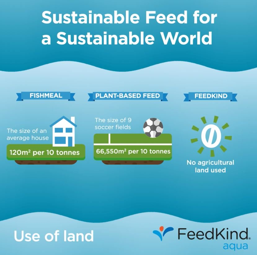 Compared to other sources, #FeedKind uses just 0.04 acres per 40,000 tonnes of protein #sustainable. <br>http://pic.twitter.com/xeDSWdrAqW