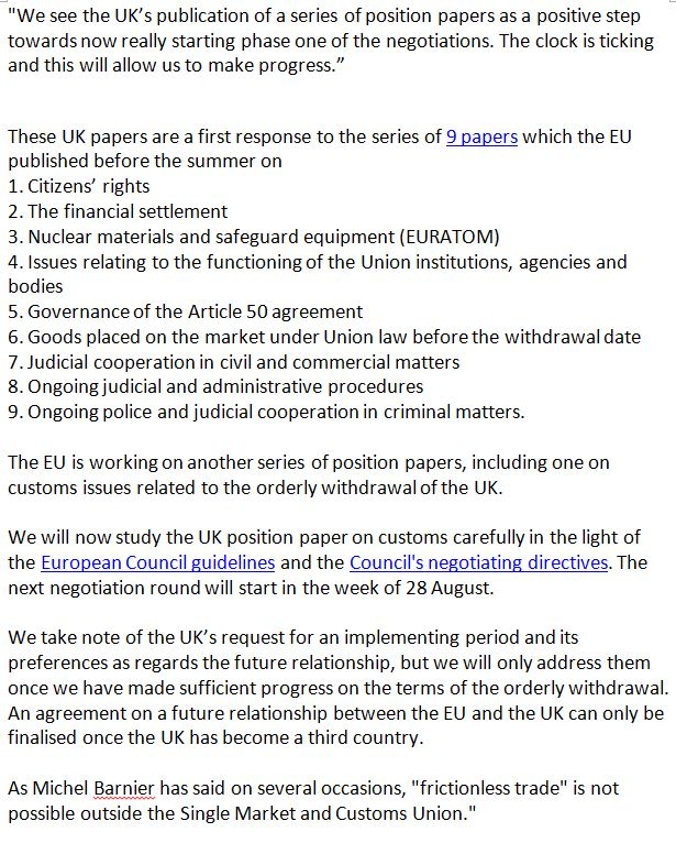 Open britain on twitter statement from eu shows that govt are open britain on twitter statement from eu shows that govt are living in a fantasy land you cannot have frictionless trade outside of single market platinumwayz