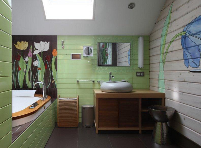 Рисунок стен узкой комнаты