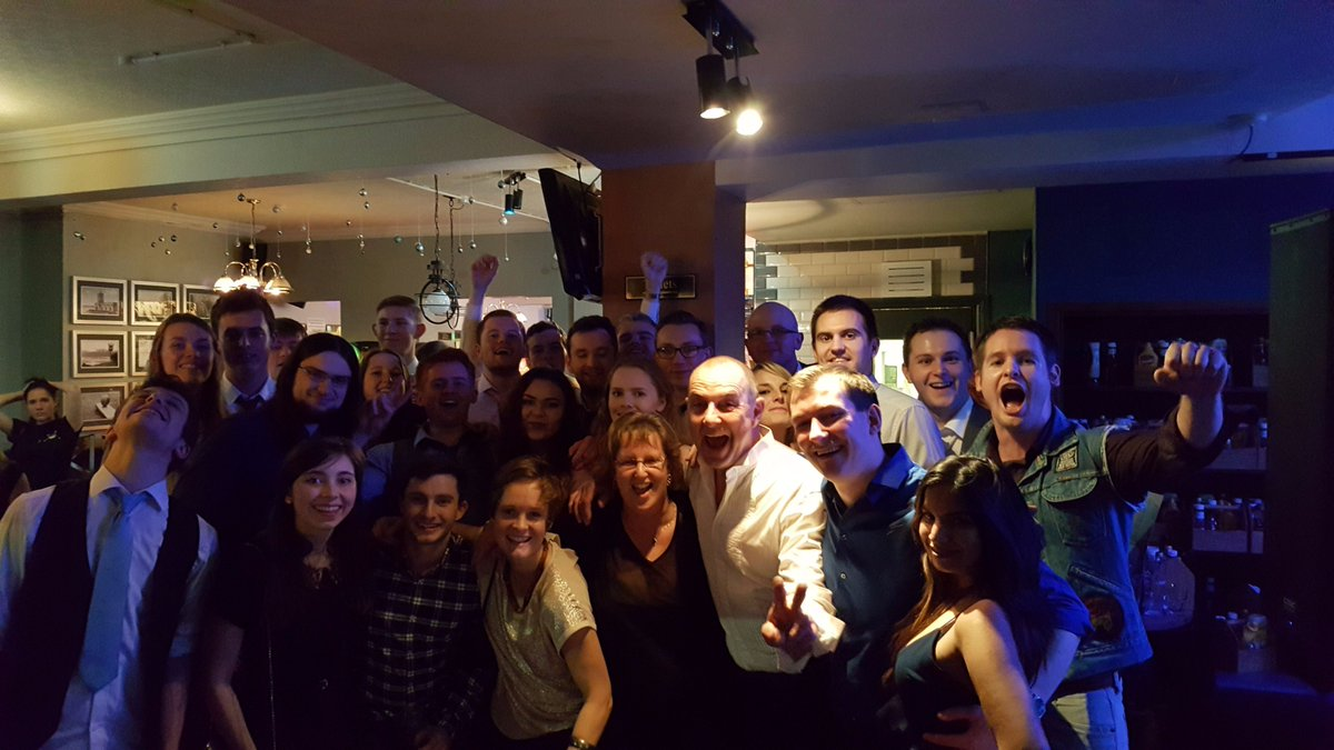 Any excuse for good food and a party #SuitedAndBooted #Community #WorkHardPlayHard #LboroFreshers #JoinOurTeam #POTD<br>http://pic.twitter.com/UqVtNJHYdv