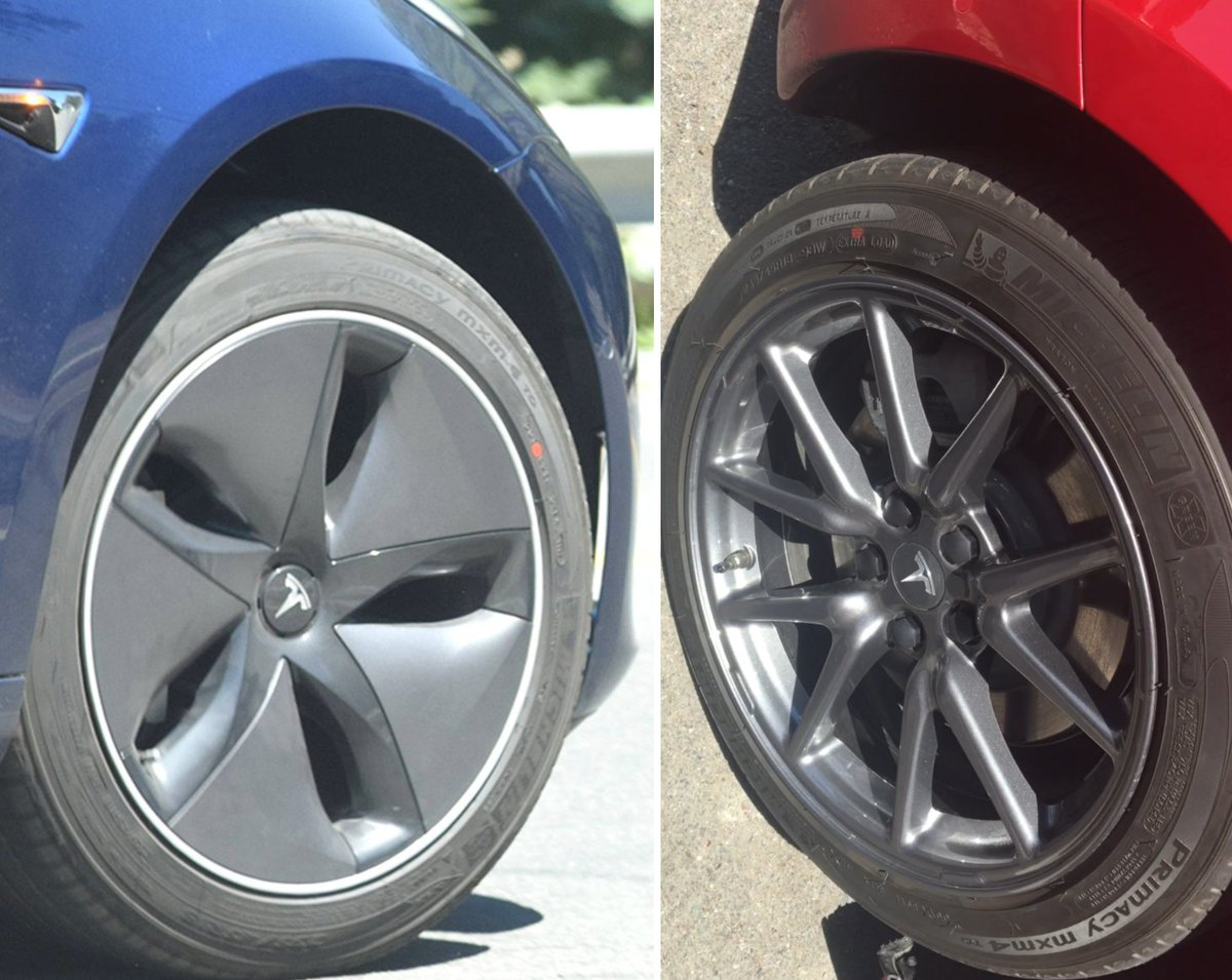 Co On Twitter Tesla Model 3 S Aero Wheels Look Awesome Without Their Caps Https T Njrea3blti
