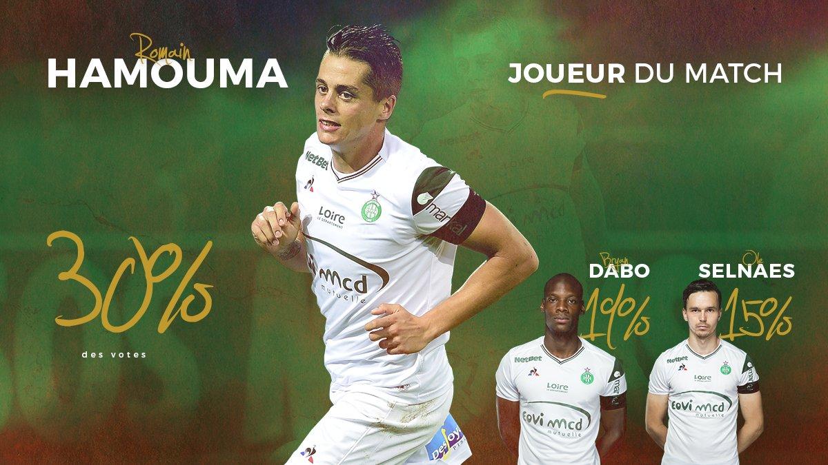 Vous avez élu Romain #Hamouma homme du match de #SMCASSE ! Le buteur récolte 30% des votes devant @dabsperestroika (19%) et #Selnaes (15%)pic.twitter.com/xWLKXO4FWK