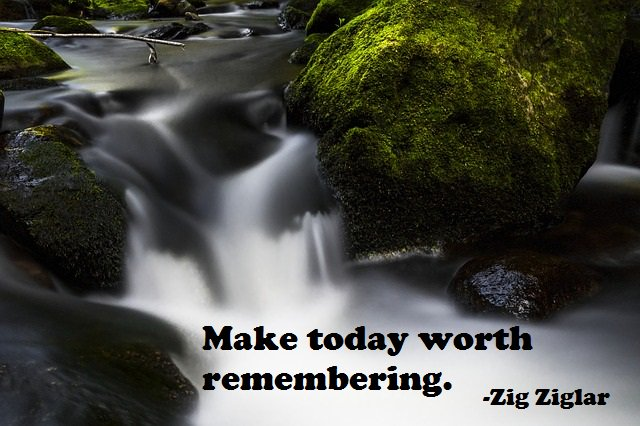 Make today worth remembering.   - Zig Ziglar  #InspirationalQuotes #MotivationalQuotes<br>http://pic.twitter.com/ro84JVwLkd