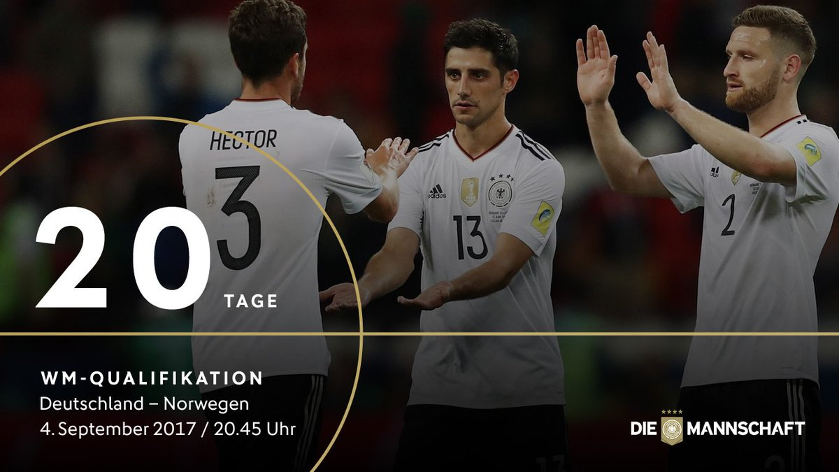 Der Countdown läuft... 🇩🇪🇳🇴 #GERNOR #DieMannschaft  👉🏼 https://t.co/wE...