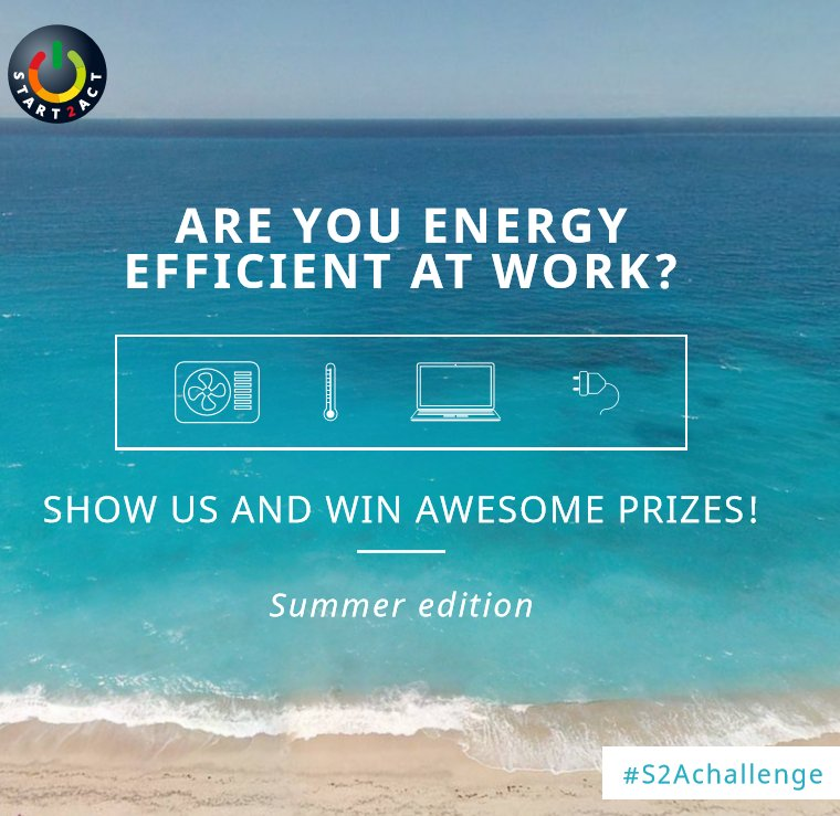 Are you a #startup or #SME? Enter the #S2Achallenge and show us how you achieve #energyefficiency at your office!   http:// bit.ly/2fEZIjO  &nbsp;  <br>http://pic.twitter.com/uyj4ISA3gX