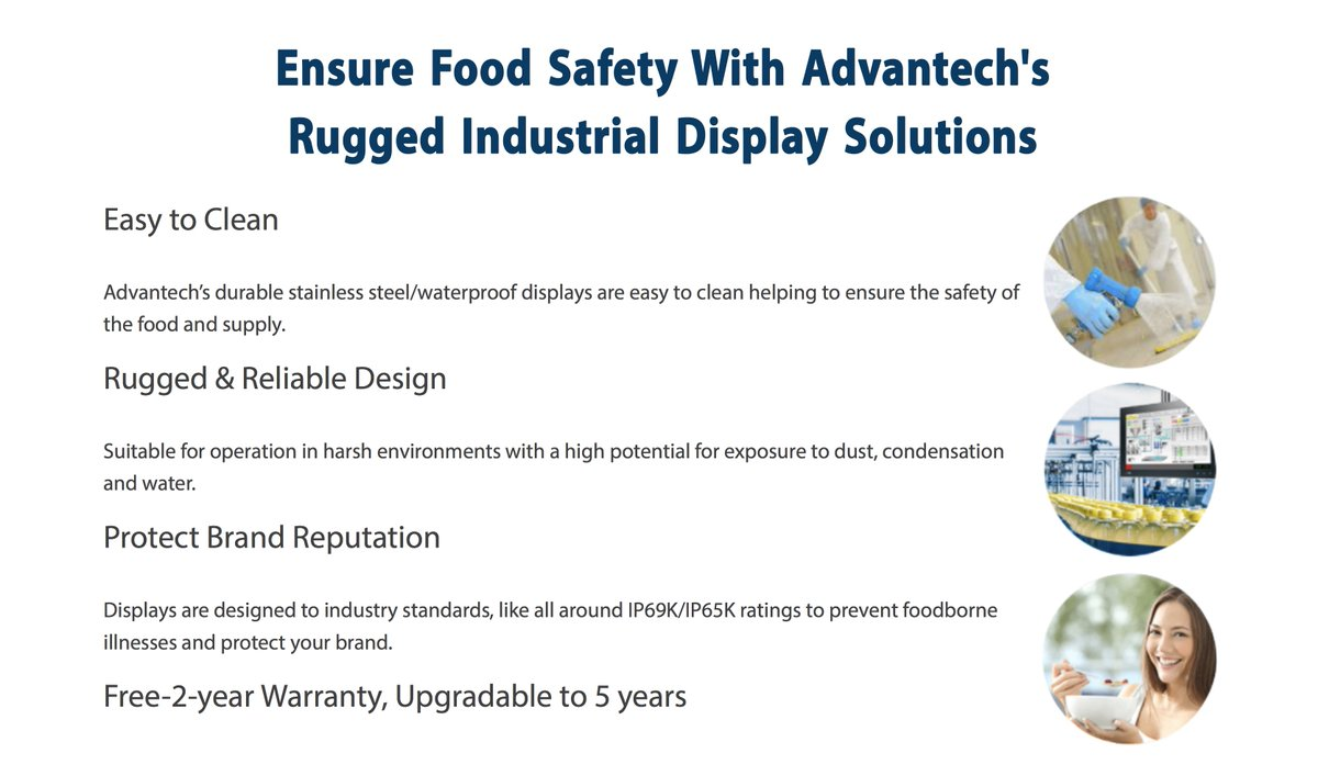 Why use the @AdvantechIA Industrial Displays for your #foodandbeverage #solutions? Check out these key benefits:  http://www. valin.com/resources/blog /ensure-food-safety-with-advantechs-rugged-industrial-display-solutions &nbsp; … <br>http://pic.twitter.com/Z4PgYgnMV6