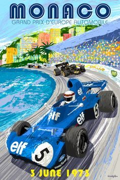 Another of the old classic posters. This time from the @F1 #MonacoGrandPrix in 1973. #Motorhappy #TwitterCarClub #Racing #Monaco #Automobile<br>http://pic.twitter.com/KcsTvJYE7F