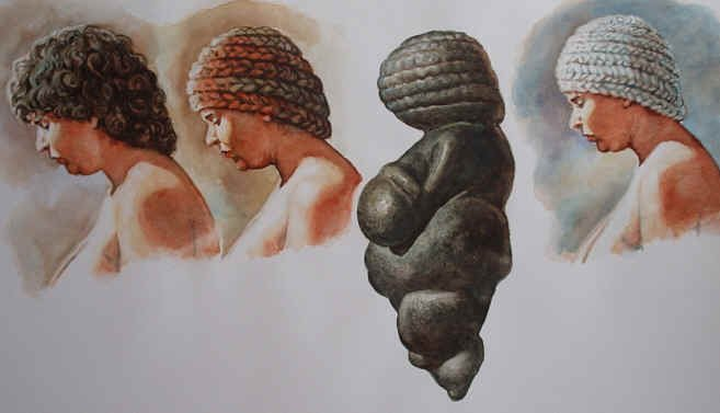 Interesting #hairstyle! Venus of Willendorf possible hair reconstruction. #IllustrationsofArchaeology<br>http://pic.twitter.com/NwABGLm7tO
