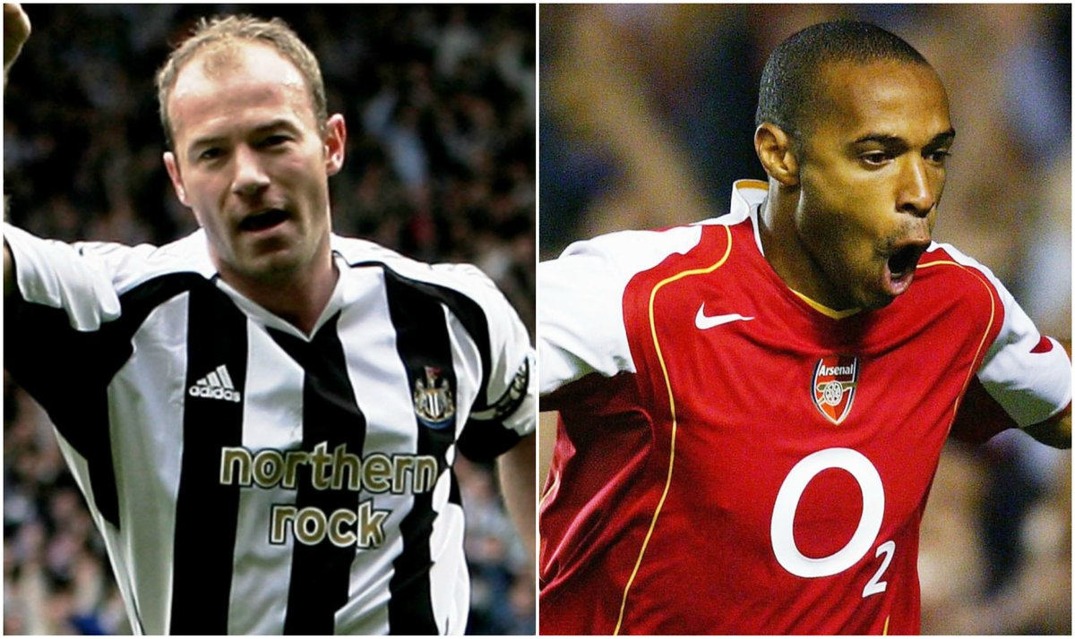 Who is the greatest striker to grace the Premier League? RT – Alan Shearer ❤️ – Thierry Henry