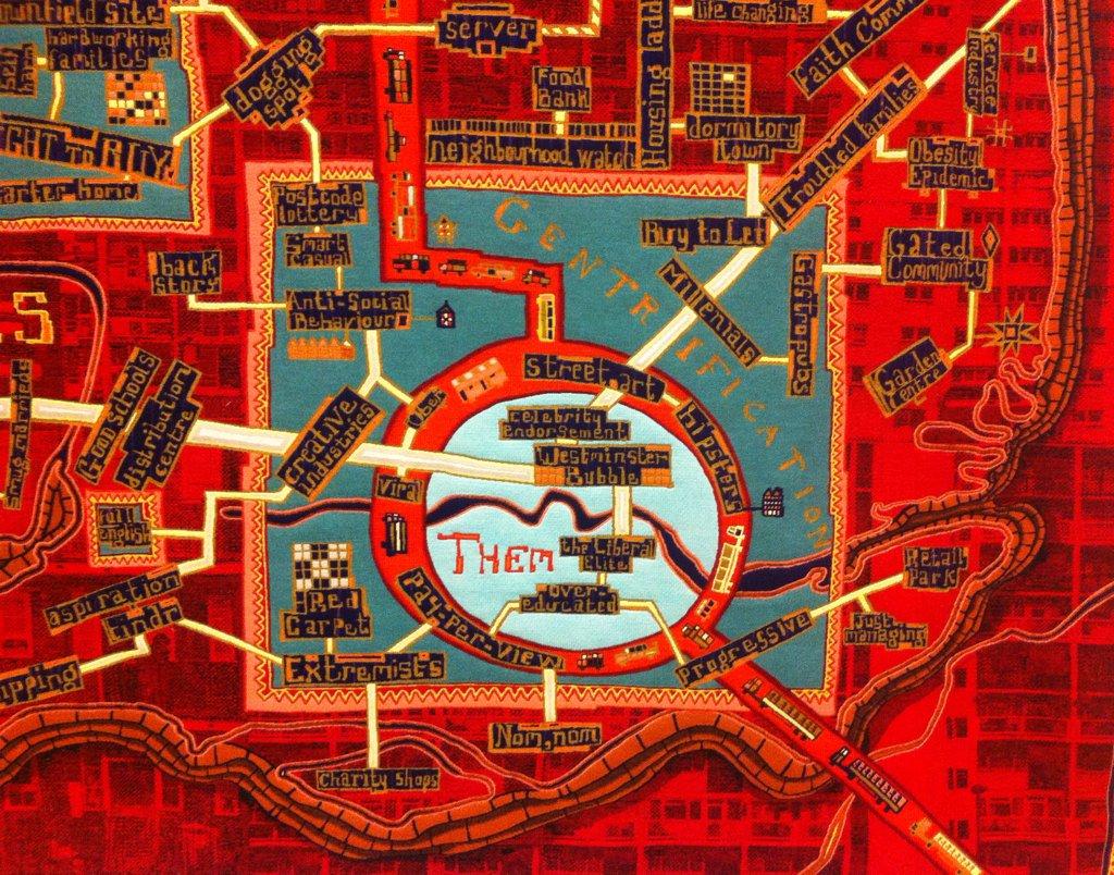 Nice #map seen this #weekend @SerpentineUK @Alan_Measles #us #them #Art #tapestry<br>http://pic.twitter.com/HoPFqKMvMX