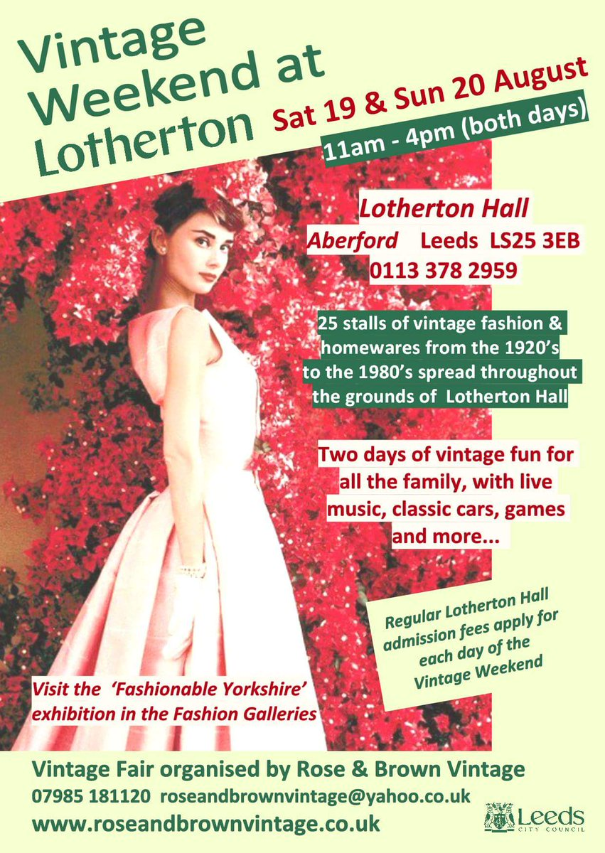 Building up for our all-weekender #vintagefair at Lotherton Hall the weekend comin&#39;! @moreLeeds @LeedsCityDwell @LeedsCityMag @Yorkshiredays<br>http://pic.twitter.com/jZohcpnSZ4