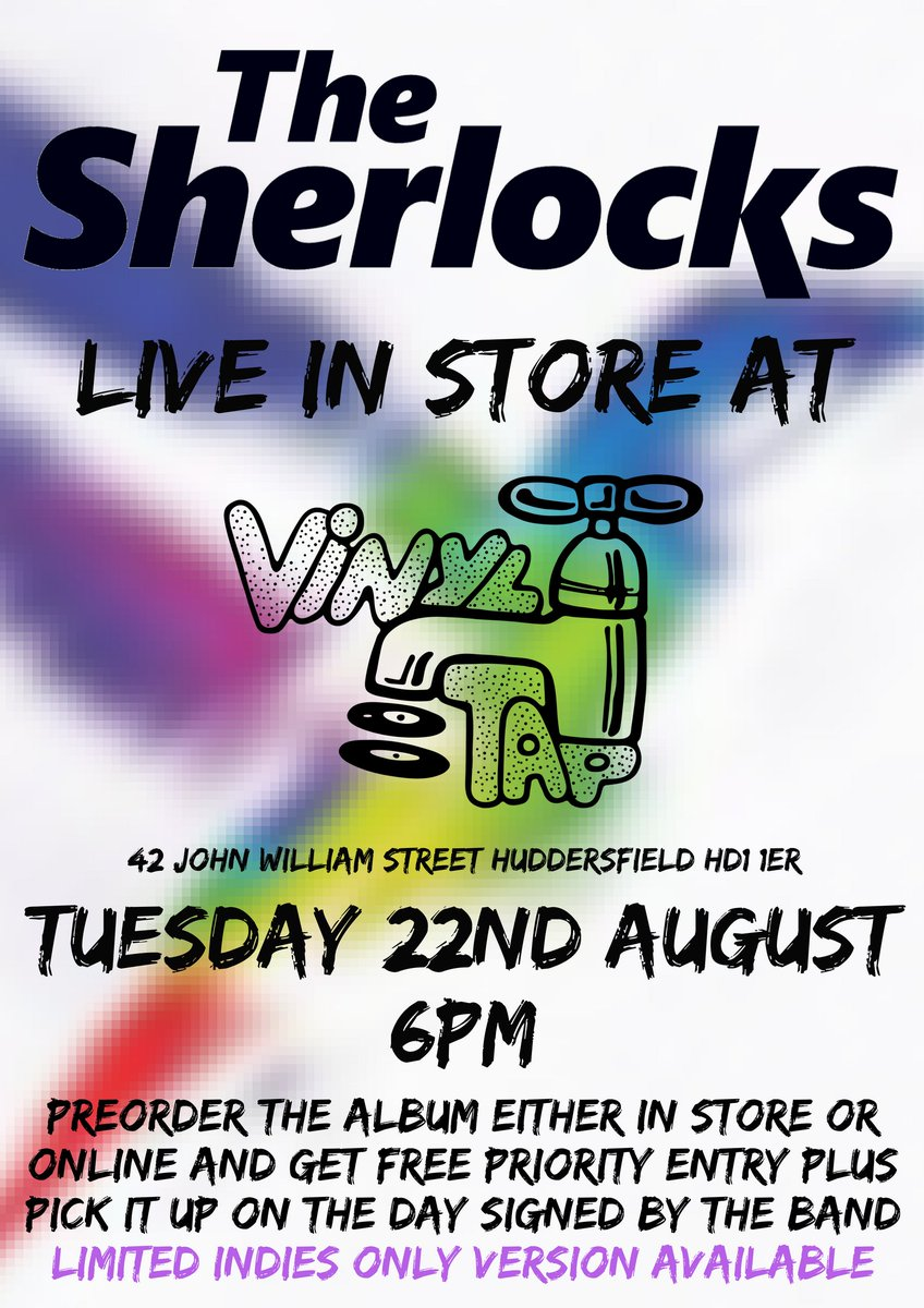 LIVE IN STORE @TheSherlocks Tues 22nd Aug | 6PM preorder their album  http:// bit.ly/SherlocksatVin ylTap &nbsp; …  for entry &amp; a signed copy #livemusic #instore <br>http://pic.twitter.com/YIIBgKwjEC