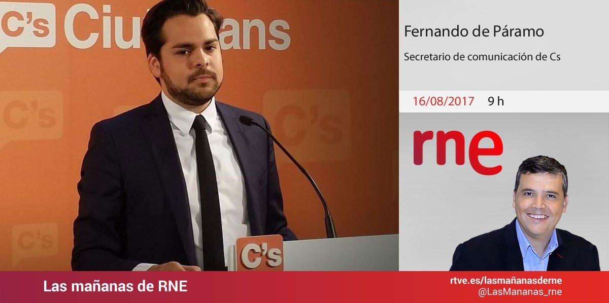 .@ferdeparamo, secretario de Comunicación de @CiudadanosCs, este miérc...