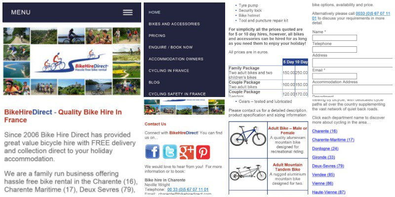 Check out the BHD mobile website... view #cycling info + book #bike hire on move!  http:// tinyurl.com/gqsger4  &nbsp;   #France <br>http://pic.twitter.com/lNl91Mo83B