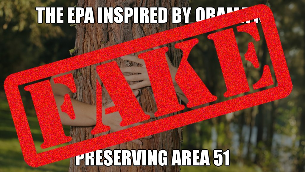 is a bot! The EPA inspired by Obama is NOT preserving Area 51 #troll @NPR #twitterabuse #debunked @snopes #fake #posttruth <br>http://pic.twitter.com/Xw1wXEFzkb