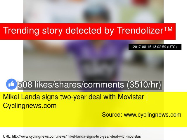 #MikelLanda signs two-year deal with #Movistar |  http:// Cyclingnews.com  &nbsp;    http://www. trendolizer.com/2017/08/mikel- landa-signs-two-year-deal-with-movistar-cyclingnewscom.html &nbsp; … <br>http://pic.twitter.com/B3UTaWG5vv