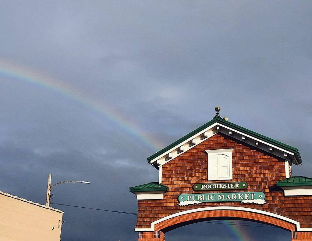 Rainbow at the Public Market #ROC  Photo by Allie. #ThisIsROC #RochesterNY #ILoveNY<br>http://pic.twitter.com/CKye82BeUw