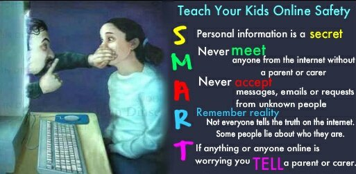 Teach your kids online safety with the &quot;SMART&quot; infographic @RespectYourself @L6HJH @NatWorGroup @SnowCalmth #OnLineSafety #teachers #schools<br>http://pic.twitter.com/2juzVR4Uws