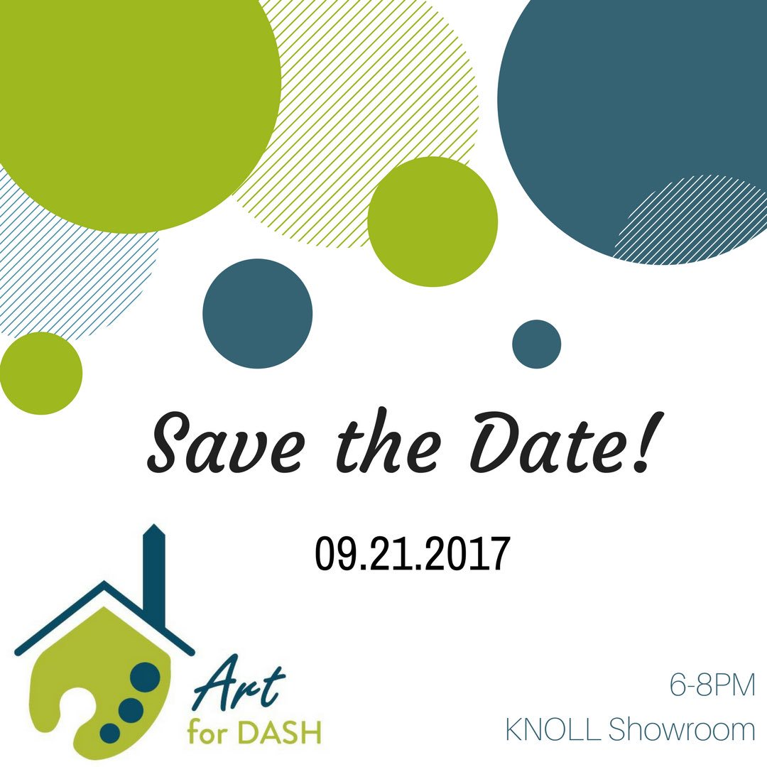 Save the Date - Thursday, September 21st - for Art for DASH! Shop incredible local artists from 6-8PM hosted by @Knoll_Inc! #dcevent <br>http://pic.twitter.com/waTIddALGb