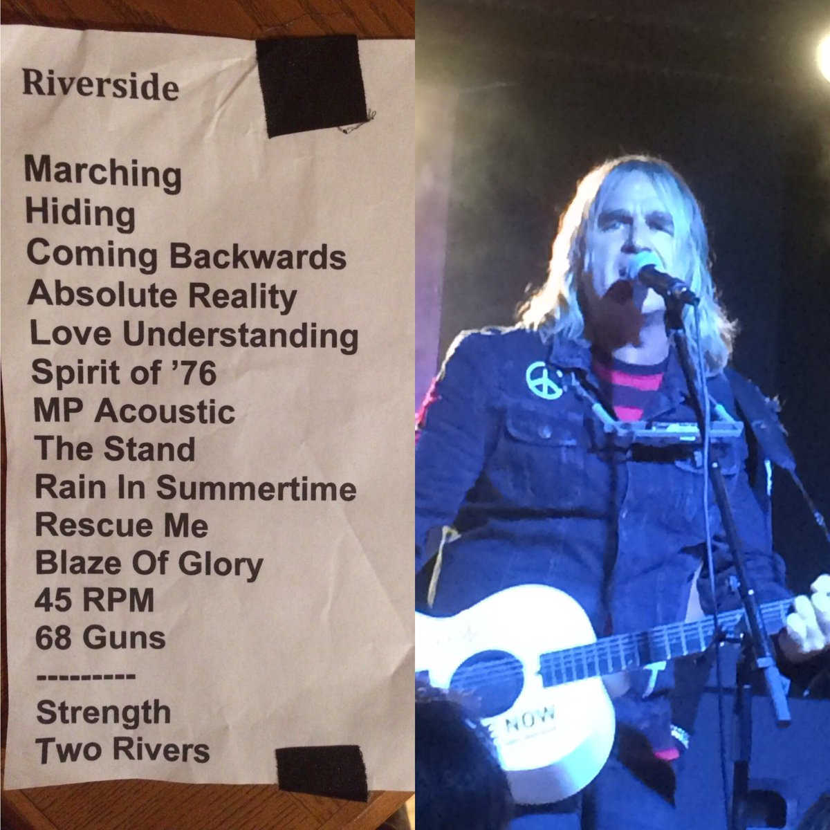 What a show thanks for making &quot;memories come flooding back &quot; #setlist #knifeedge  @julespeters @smileydrums @jamesonguitars @thealarm<br>http://pic.twitter.com/YNfTgnGVpm