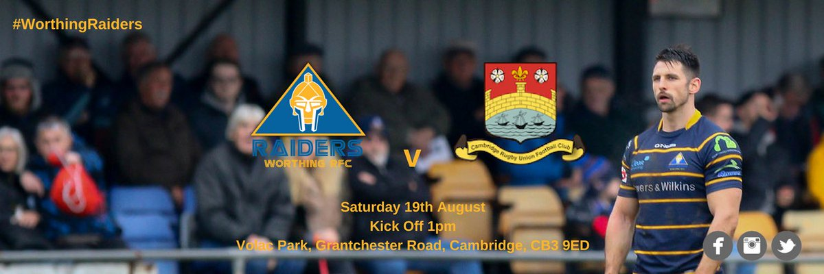 Thank you to the #RugbyFamily for your help!   We&#39;re now playing @camrufc 2XV this Saturday at Cambridge   #WorthingRaiders<br>http://pic.twitter.com/5HRrjnaIHV
