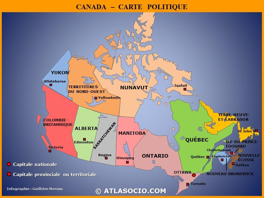 Carte Canada Manitoba.Atlasociocom On Twitter Cartes Du Canada Politique