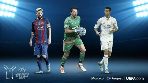 Who do you think will be 2016/2017 UEFA Player of the Year? RETWEET for #CR7 LIKE for #Messi  COMMENT for #Buffon <br>http://pic.twitter.com/daiquUKyks