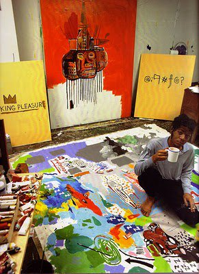 Inside the studio of Jean-Michel Basquiat...  #art #kunst #neo-expressionist #Basquiat <br>http://pic.twitter.com/GkNTzFYBLH