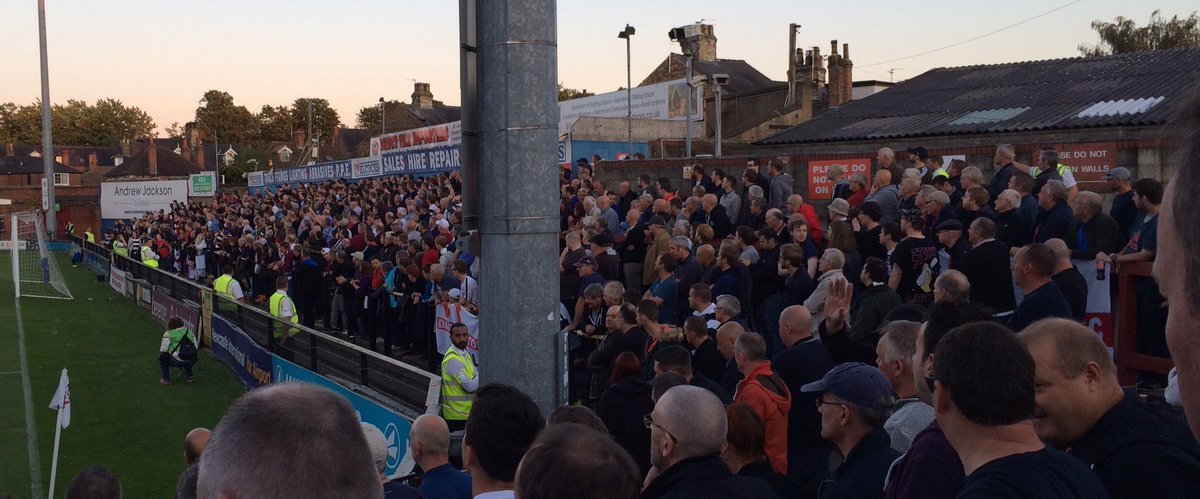 Darlington fans at York City on a Tuesday night in the sixth tier of the pyramid. @Awaydays23 @Official_Darlo https://t.co/xYphQuXM7c