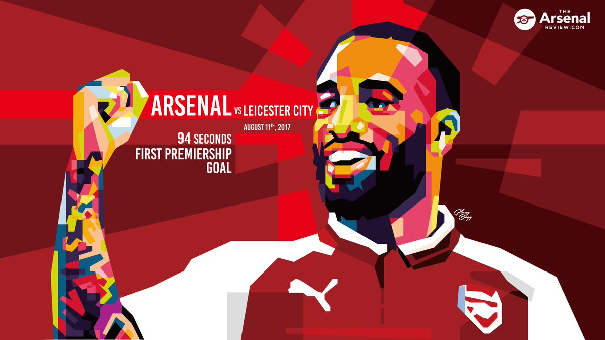 We had our friend in Indonesia come up with something to commemorate @LacazetteAlex&#39;s first EPL goal... #94seconds #Arsenal <br>http://pic.twitter.com/vhTrBJh1Gs
