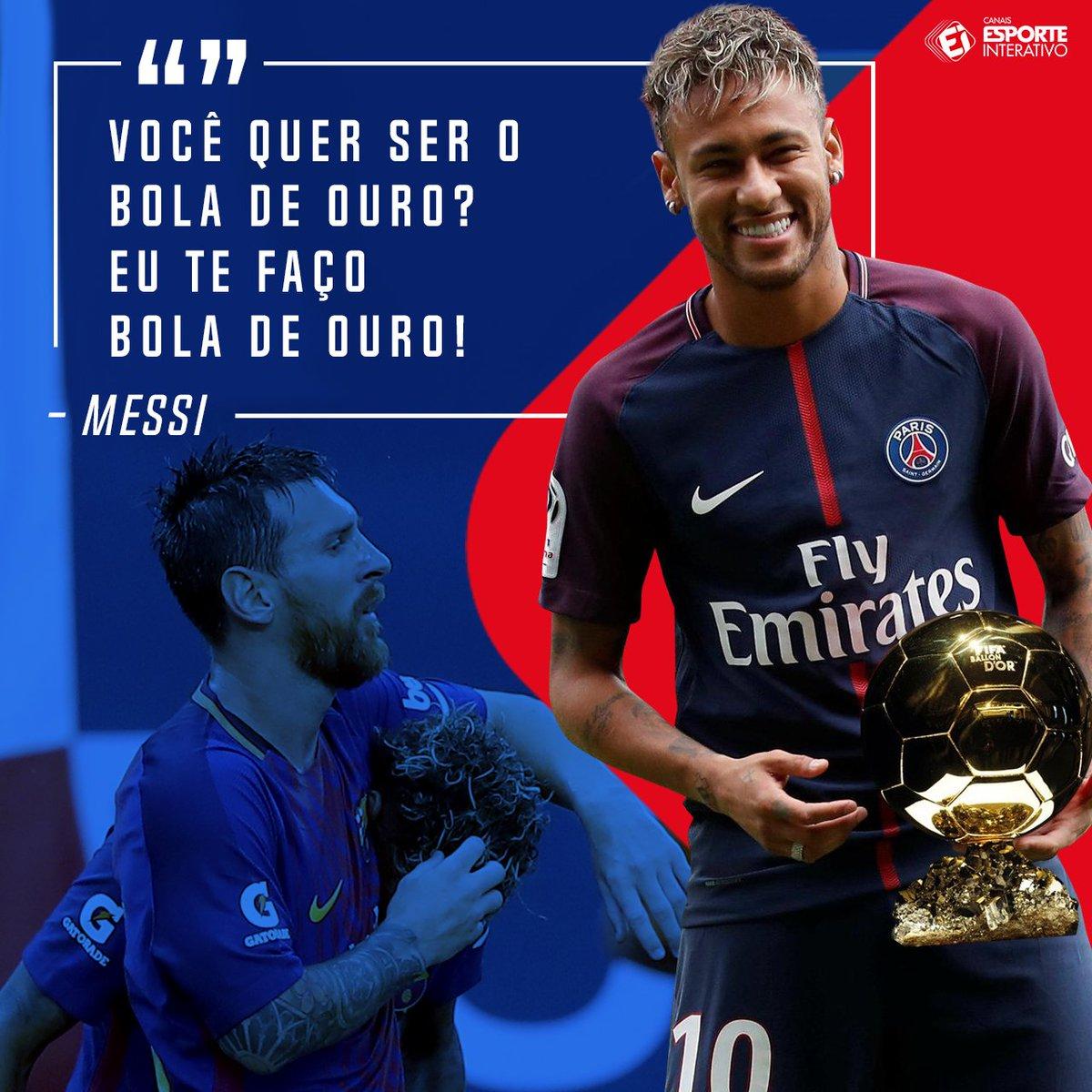 De acordo com o Sport, Messi também tentou manter o @neymarjr no Barça com essas palavras! Parece que não adiantou muito... 😬