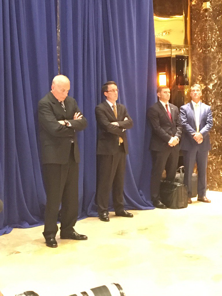 John Kelly during the President's Q and A at Trump Tower