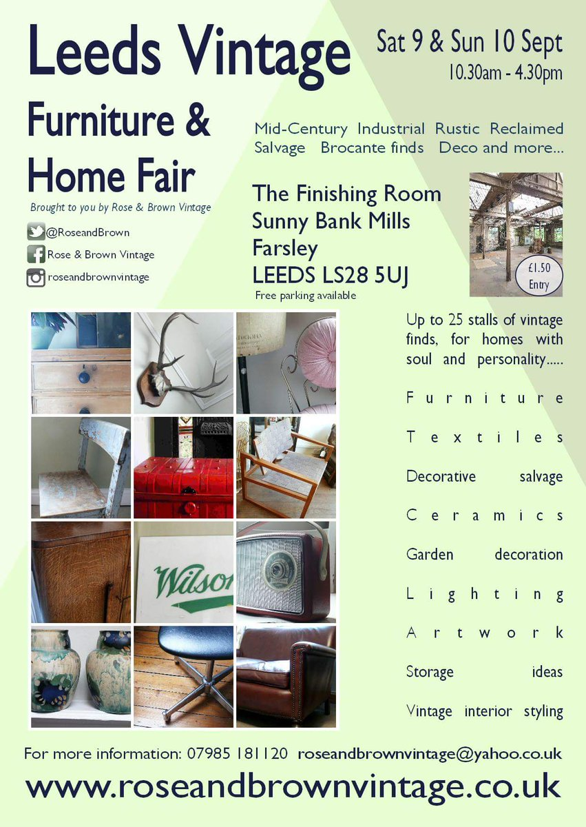 We&#39;re buzzin&#39; - So much going on! Leeds Vintage Furniture &amp; Home Fair for instance #midcenturymodern #salvage #industrialdesign #artdeco etc<br>http://pic.twitter.com/G1JcDQ9Uqg