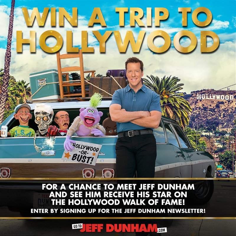 Jeff dunham on twitter want to meet walter me in hollywood want to meet walter me in hollywood enter for a chance to win a trip to my hollywood walk of fame star ceremony httpbitjeffdunhamhollywoodstar m4hsunfo