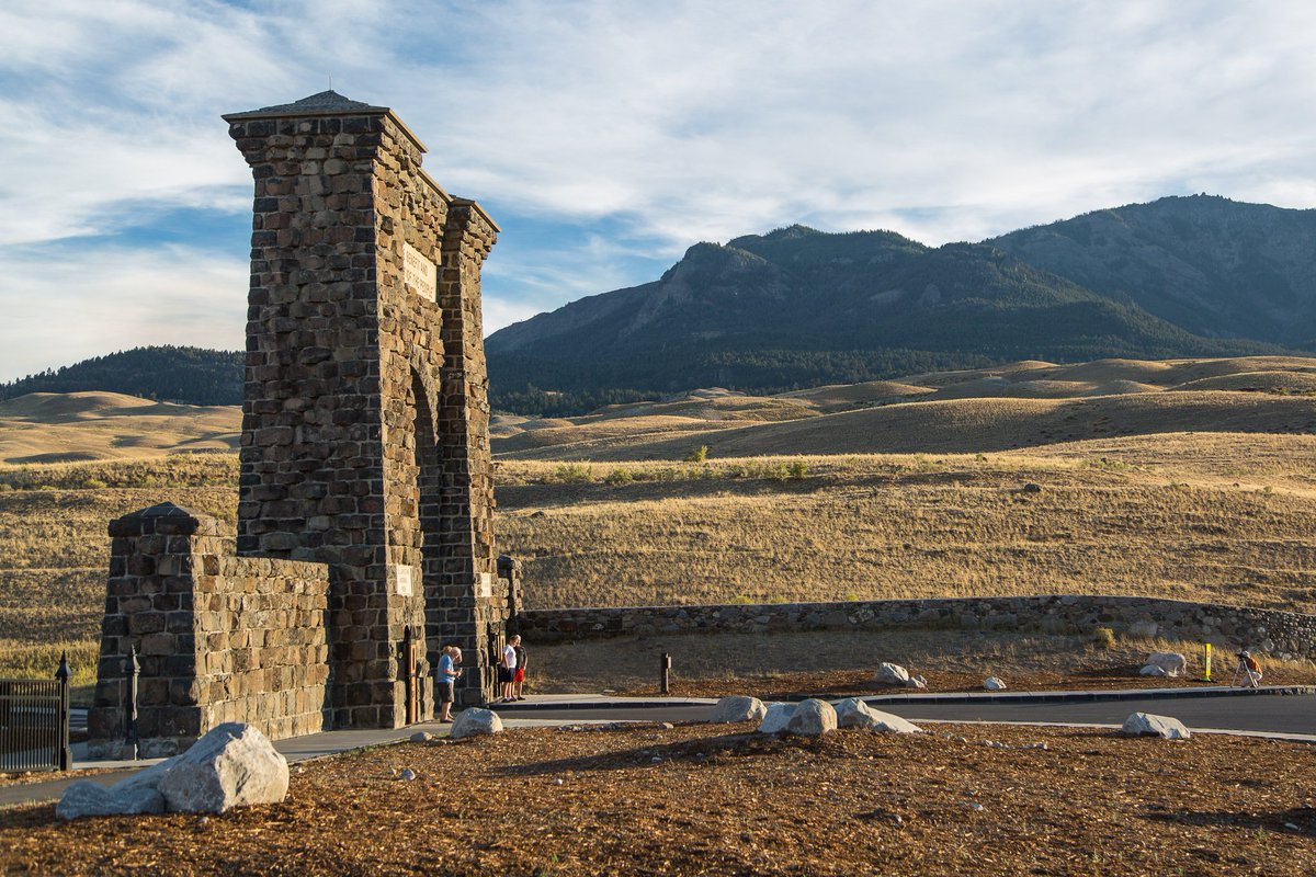 #OnThisDay in 1903, Roosevelt Arch completed at the North Entrance to Yellowstone.