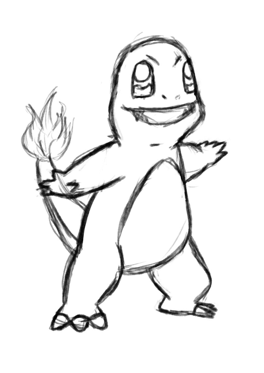 ausmalbilder pokemon glumanda  cartoonbild
