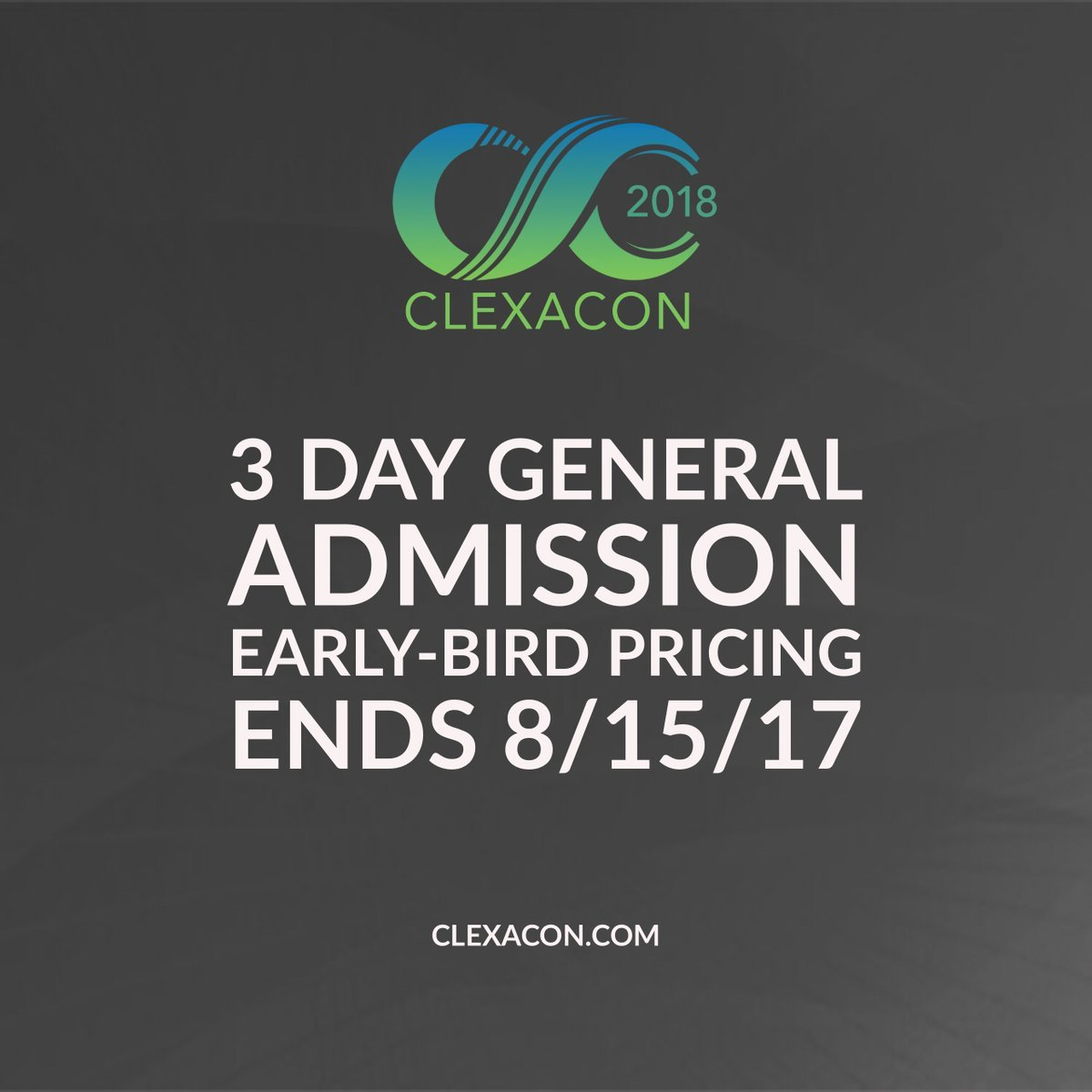 Clexacon on twitter vip passes typically sell out within 30mins today is the last day to purchase standard 3 day passes at early bird pricing that means prices go up tomorrow m4hsunfo