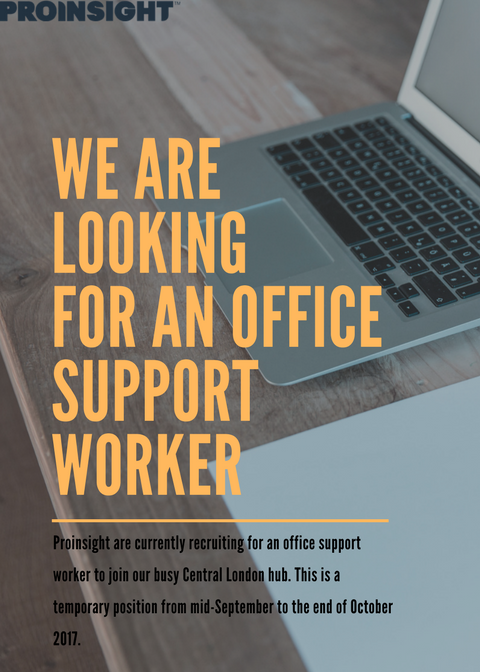 @ProinsightUK  are looking for a office support worker to #joinourteam. To apply please email your CV to oliver.matthews@proinsight.org <br>http://pic.twitter.com/HF1rqkxmNQ