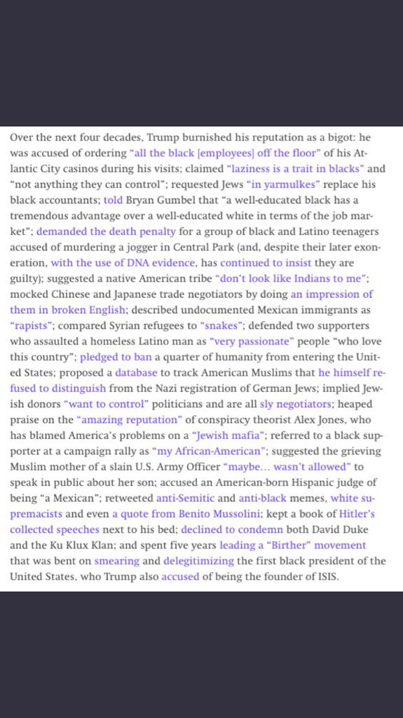 In my latest column, I put all of Trump's history of racism in one place. (You're welcome.) https://t.co/8X15W1iYX5